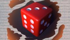 Красный игральный куб.расклад что делает любимый.