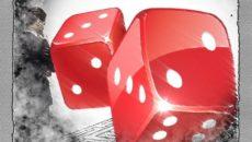 Красные игральные кубики